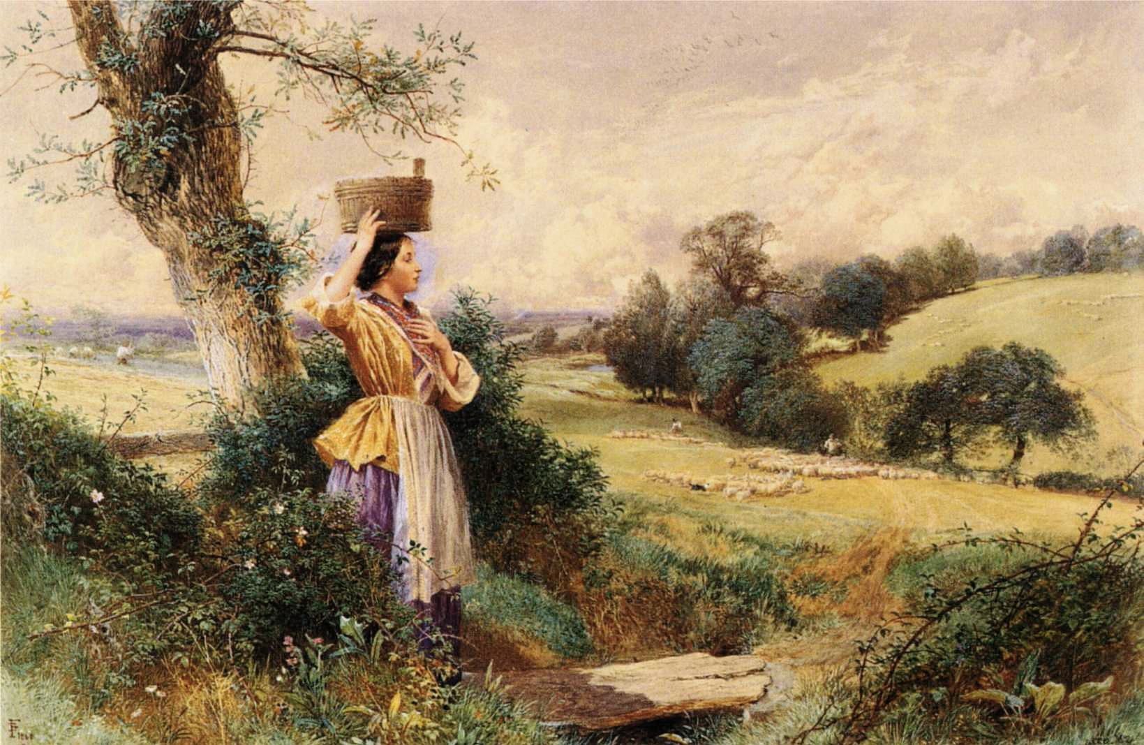 English: Dimensions and material of painting: ...