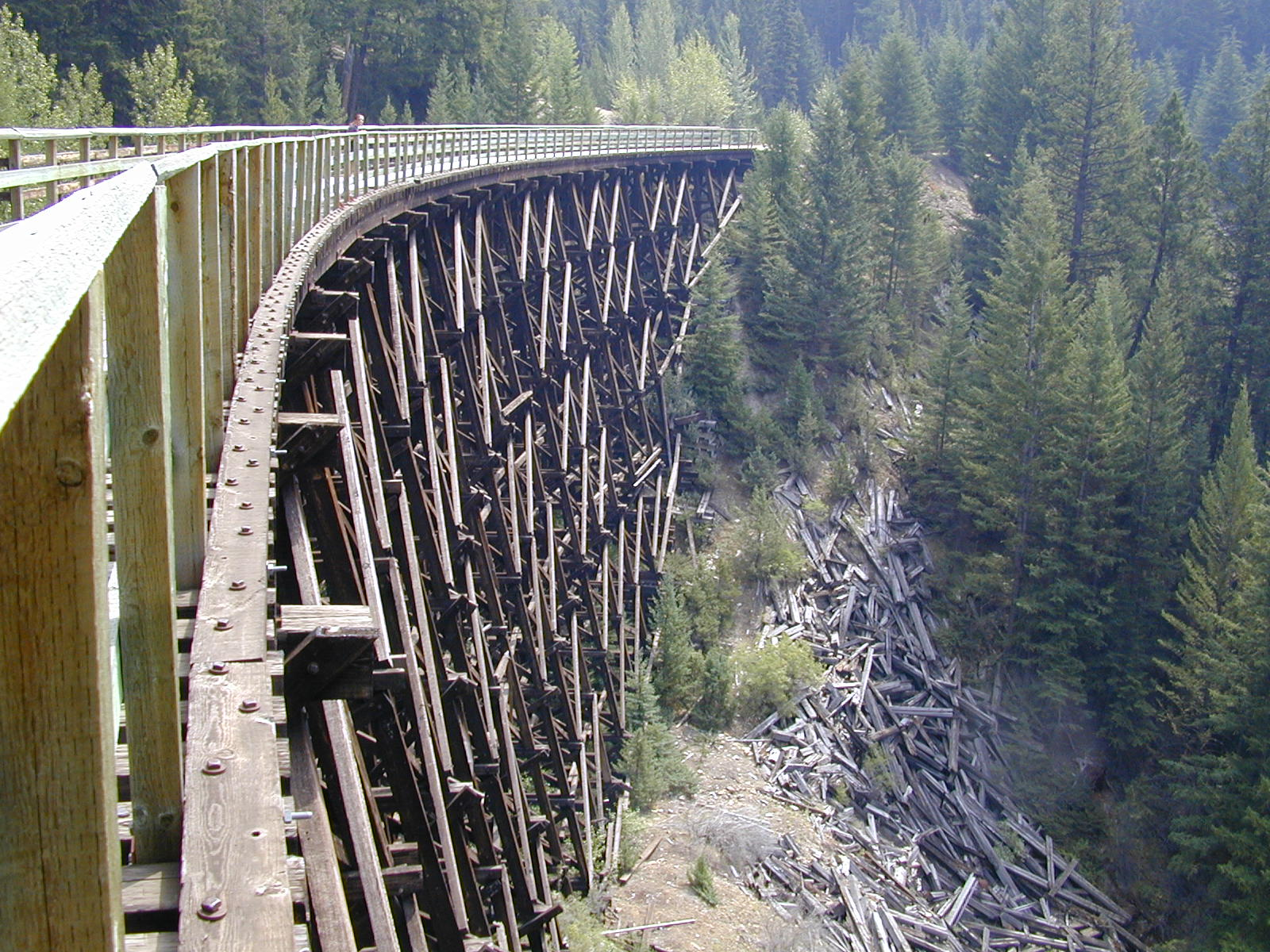 Bike Canada Rail Trail Photograph of Myra Canyon Rail