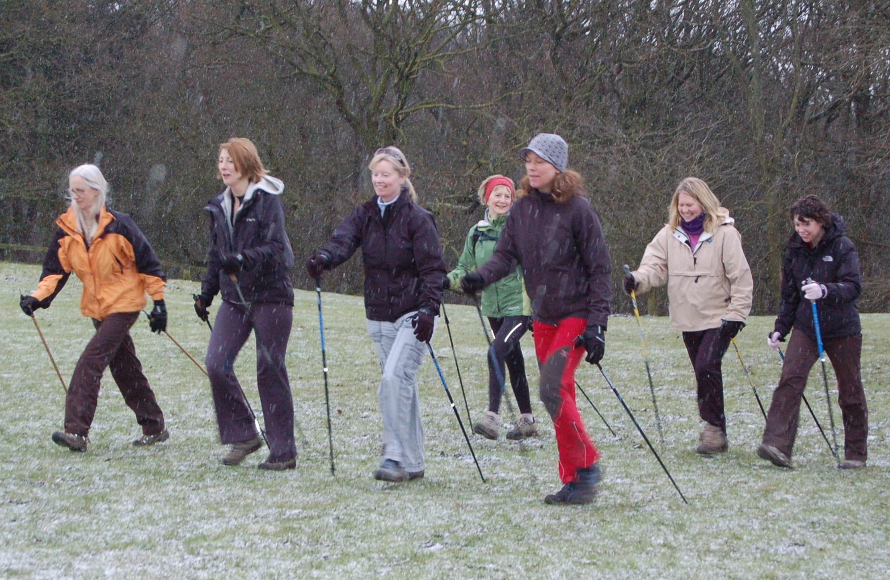 Nordic Walkers near Ilkley 020.JPG