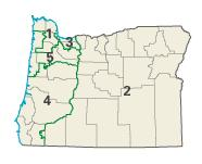 Oregon districts in these elections