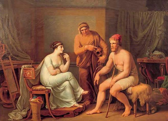 Odysseus und Penelope - Johann Heinrich Wilhelm Tischbein