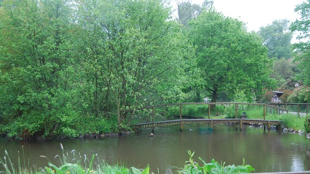 Ornamental Lake, Muncaster Castle - geograph.org.uk - 1335665
