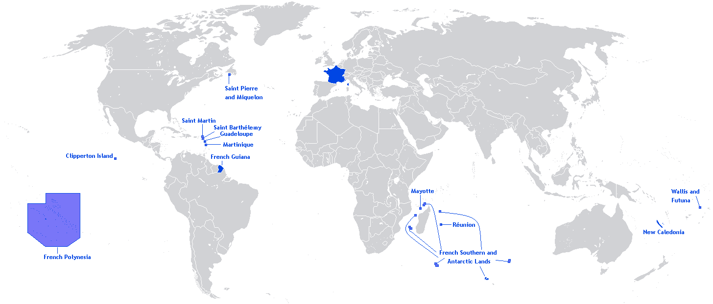 Territory of the French Republic in the world1