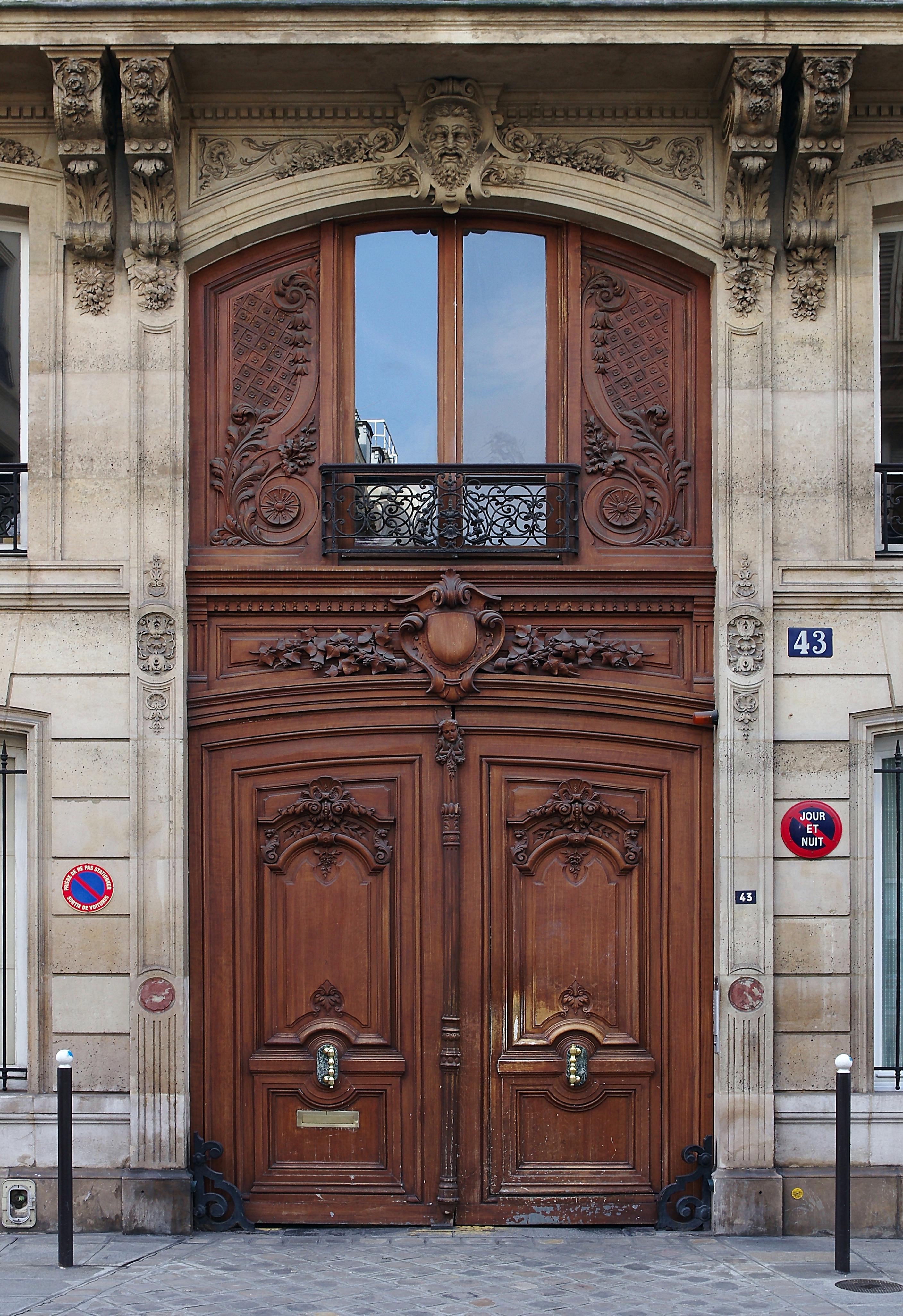 Fichier paris porte coch re rue la bruy re for What is a porte cochere