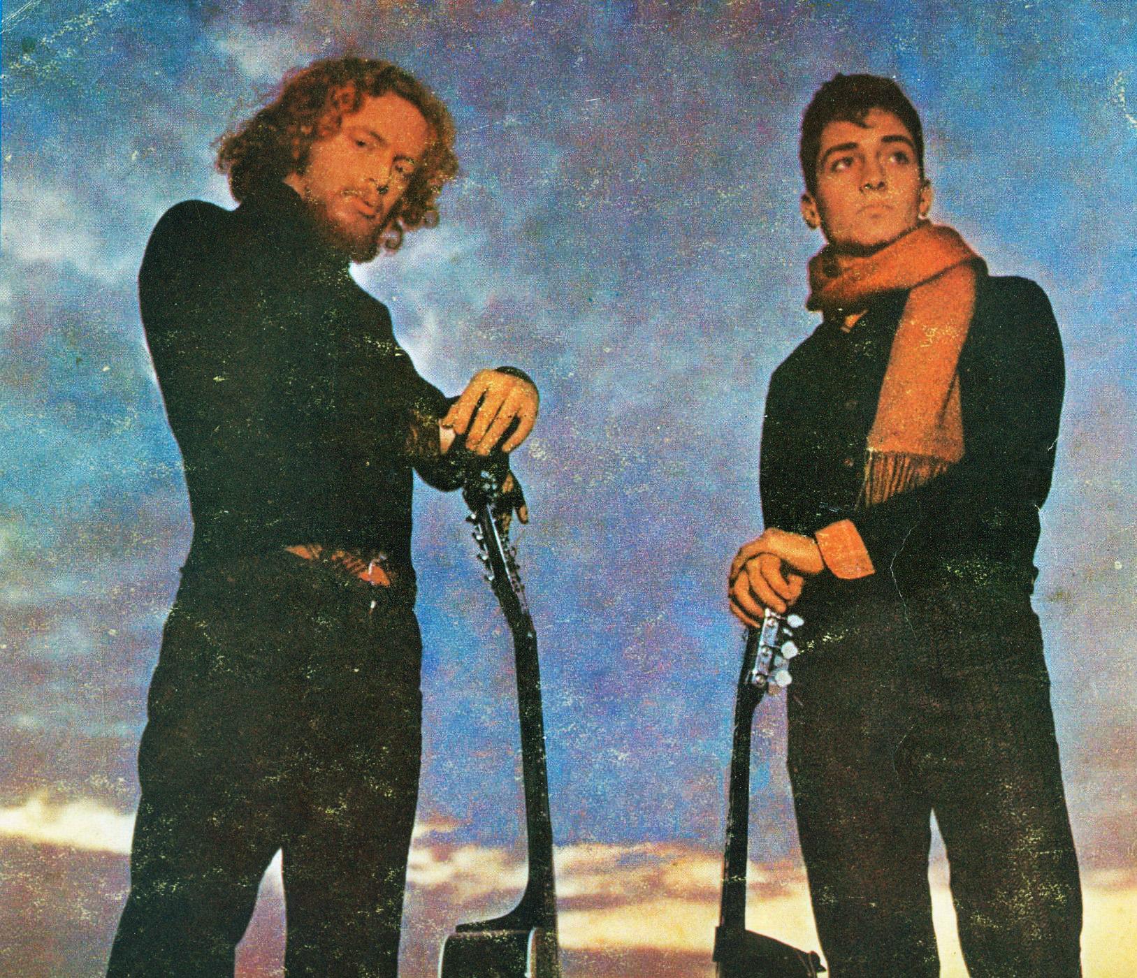 El dúo Pedro y Pablo en 1970: Izquierda: Miguel Cantilo, Derecha: Jorge Durietz.