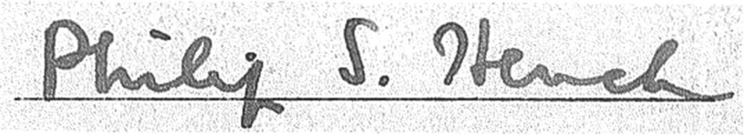 Filephilip S Hench Signatureg Wikimedia Commons