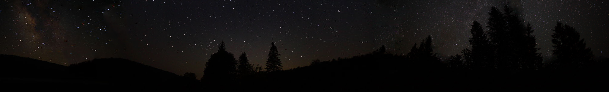 File Photoshoped Panoramic View Of Forest At Night Png