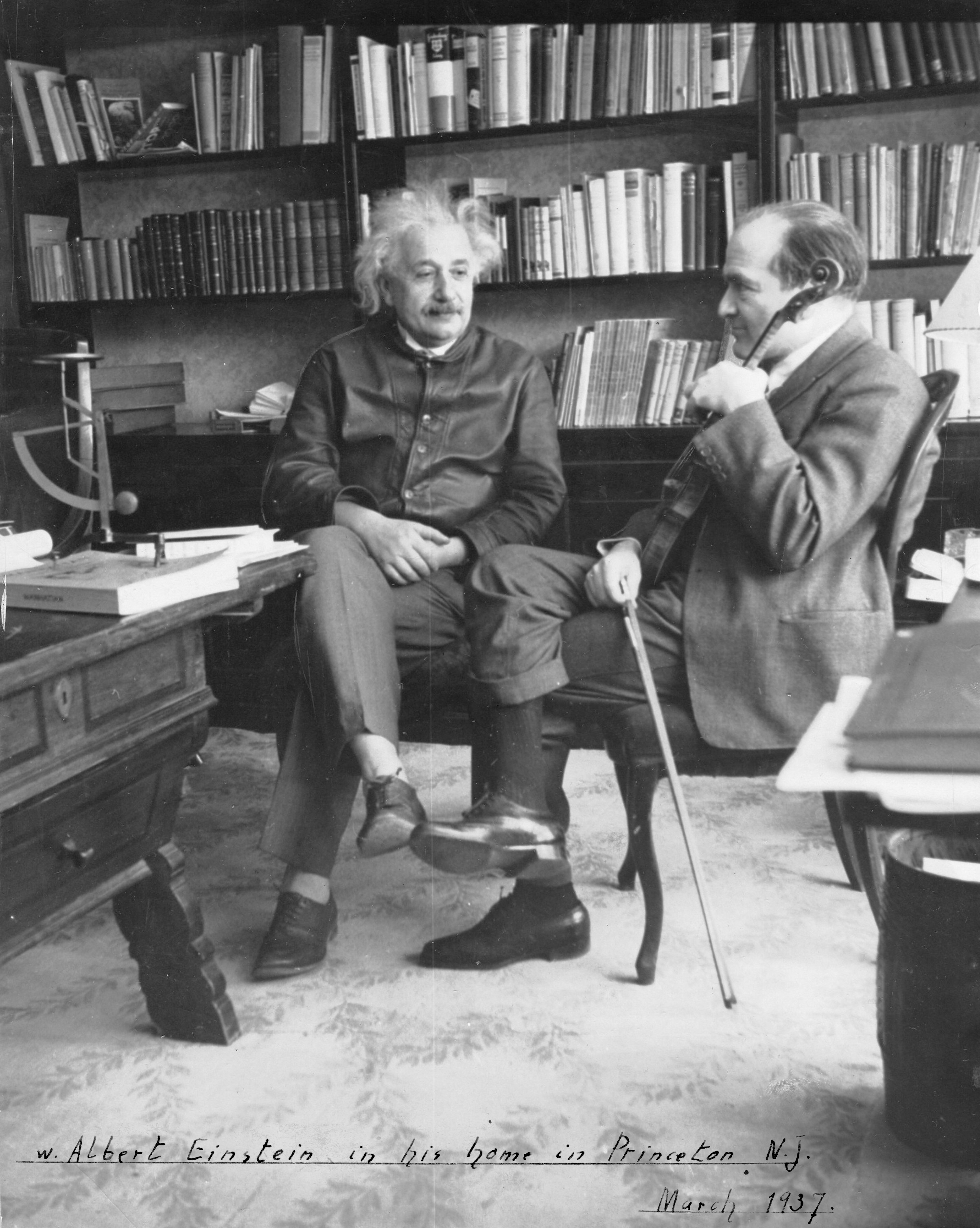 Einstein At His Home