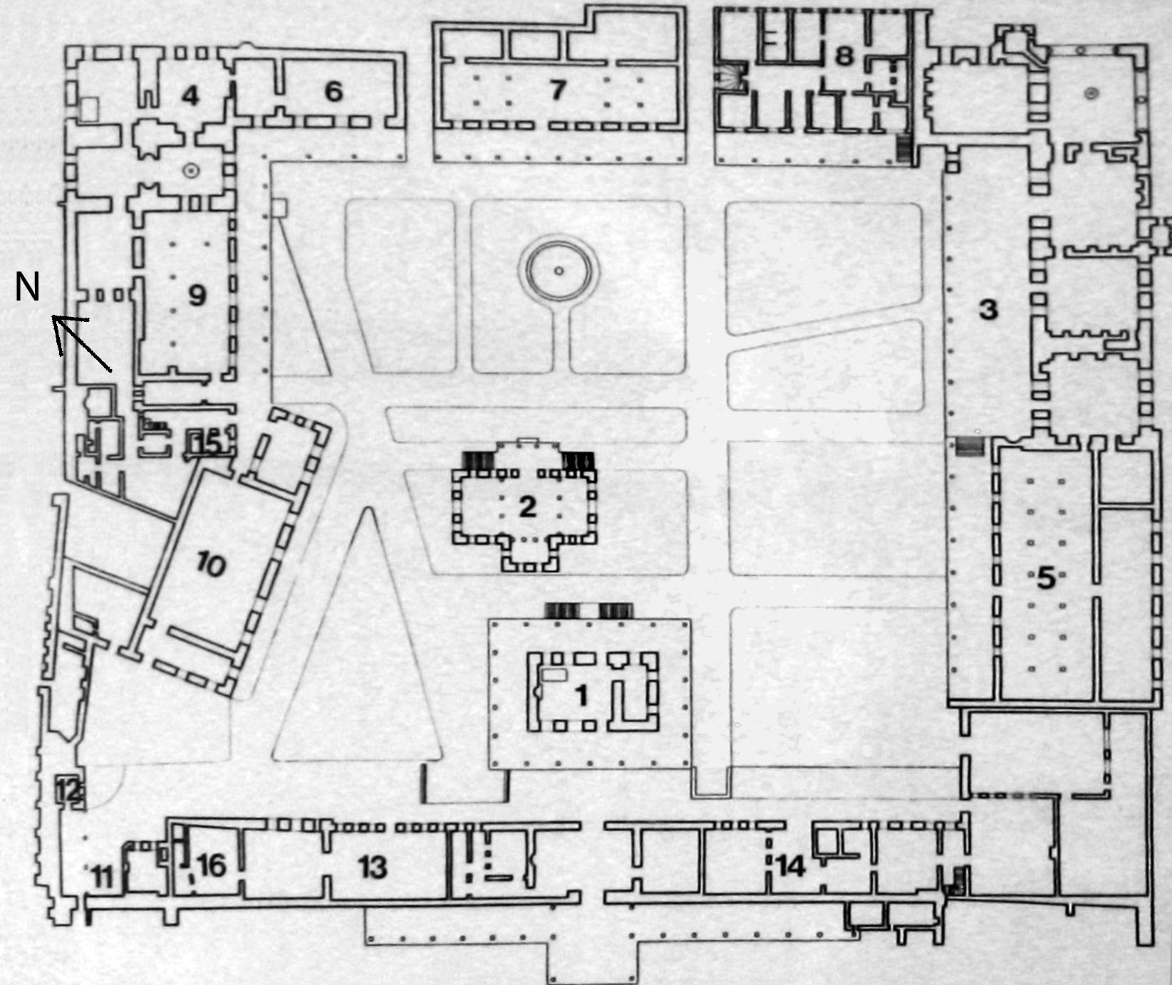 File plan third court topkapi palace jpg wikimedia commons for Palace plan