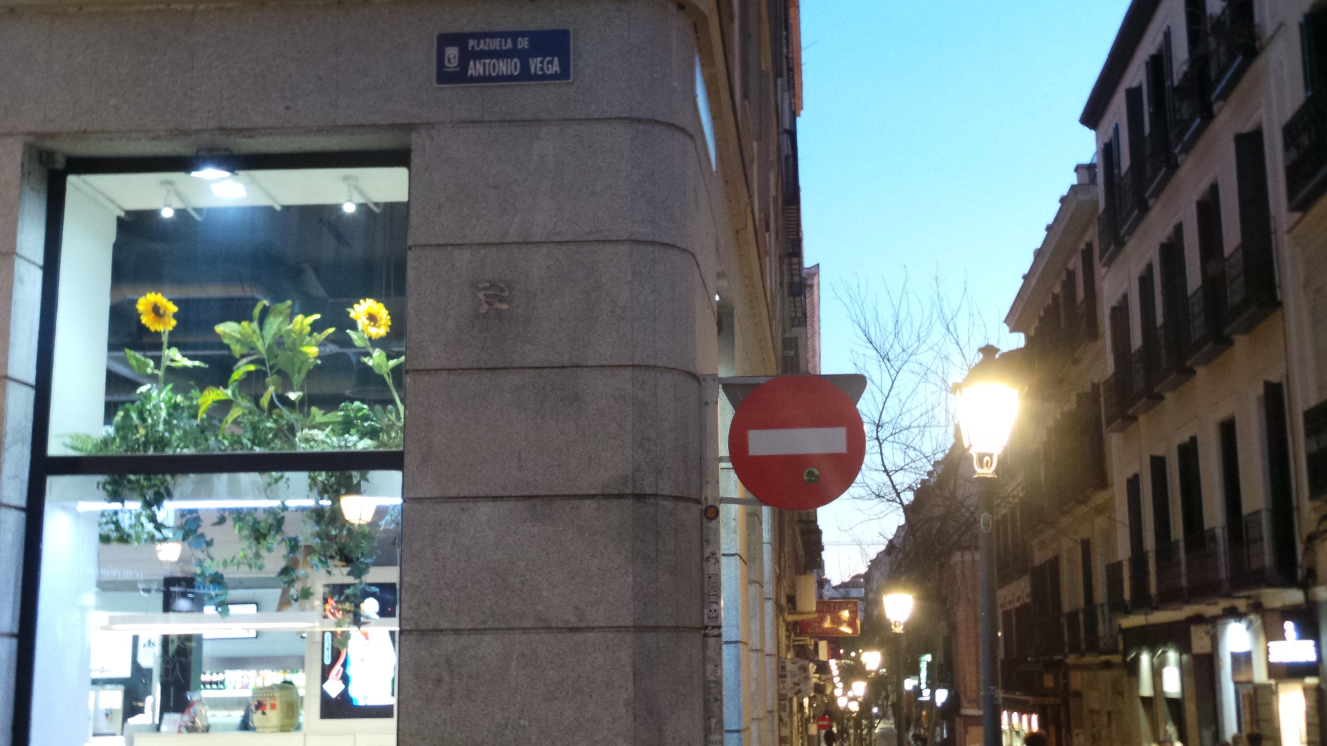 Plazuela de Antonio Vega junto a la Corredera Alta de San Pablo de Madrid