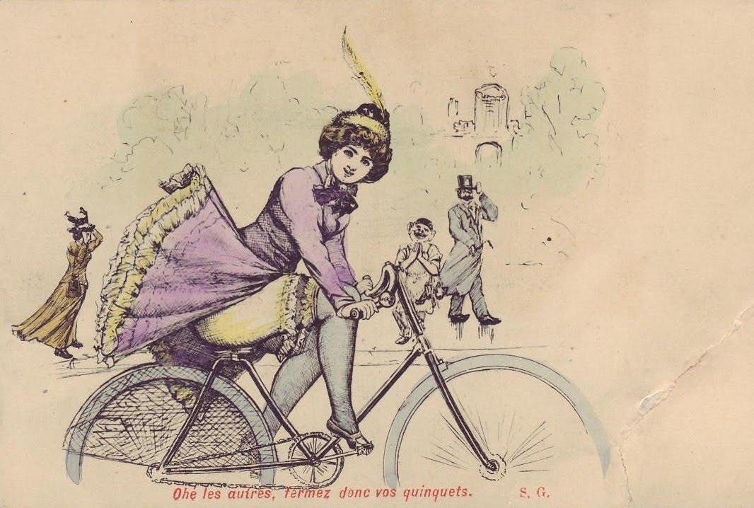 Dateipostcard Cycling Girljpg Boarische Wikipedia