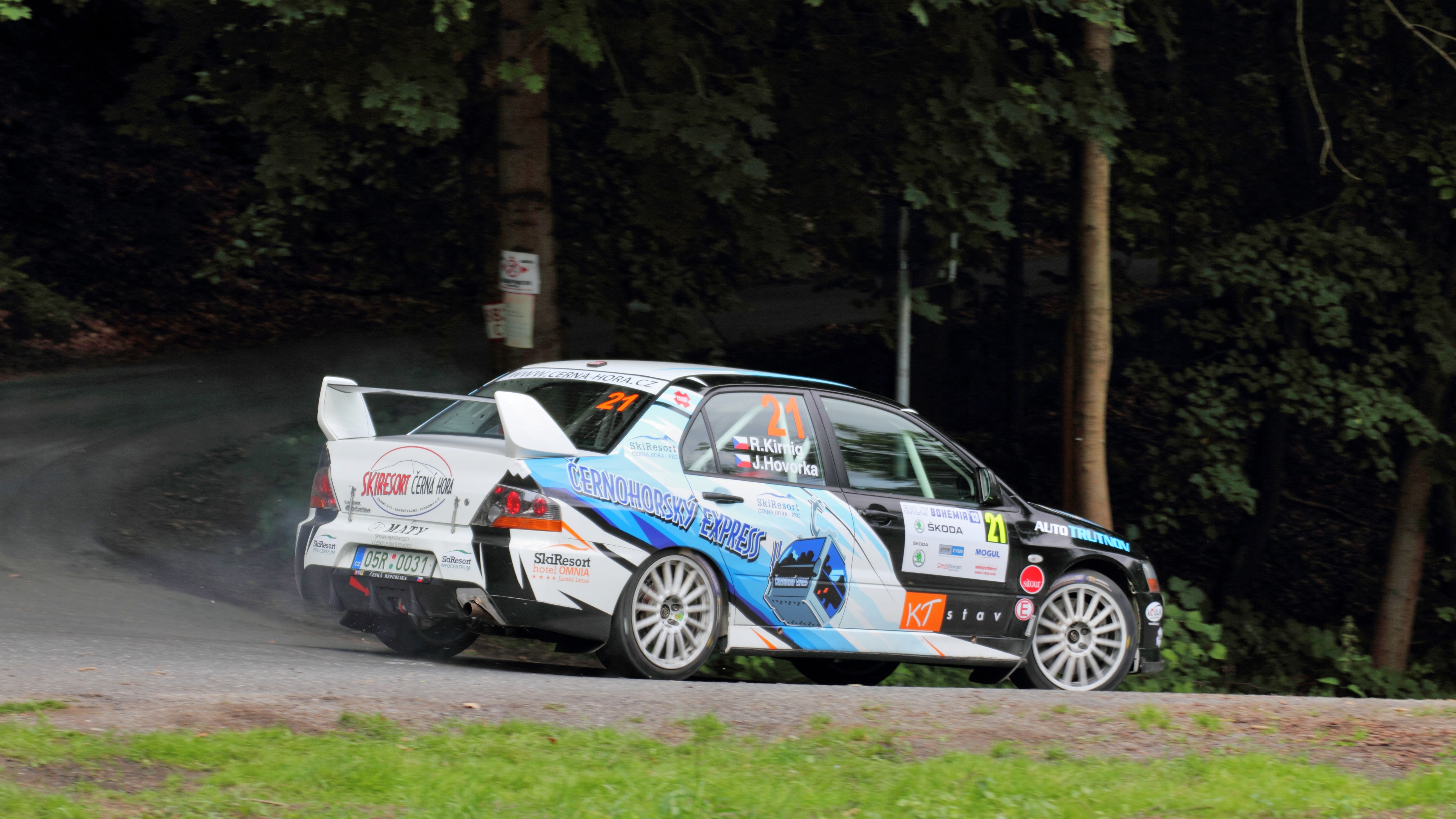 File:Rally Bohemia 2013 - Kirnig, Mitsubishi Lancer Evo IX.JPG - Wikimedia Commons