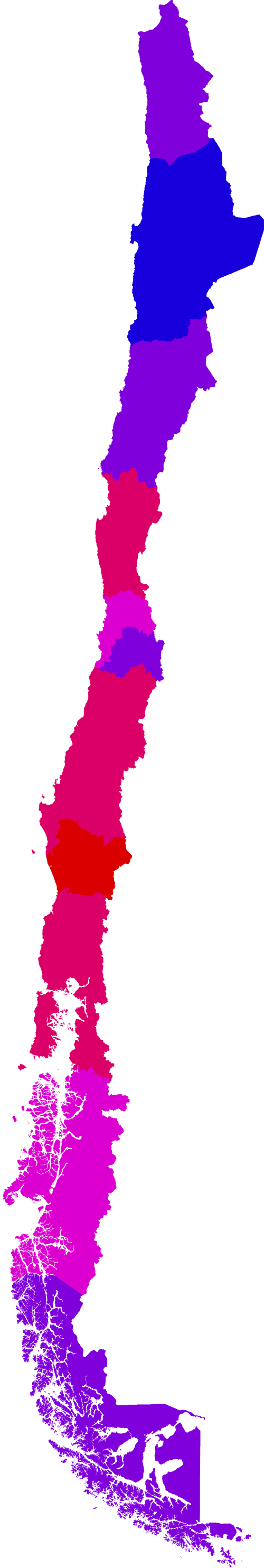 Chile Map With Regions File Regions of Chile by Human