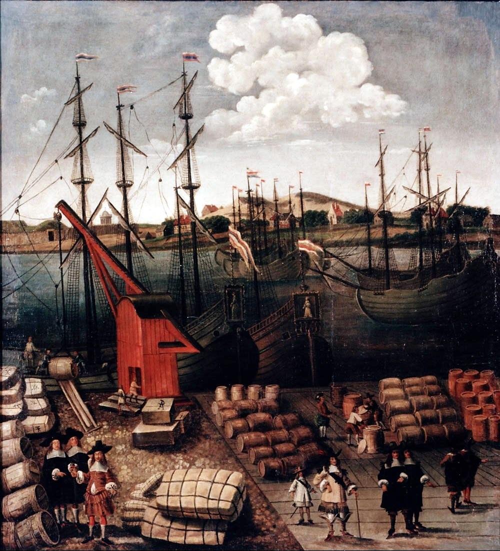 Port de Riga vers 1650-1700.