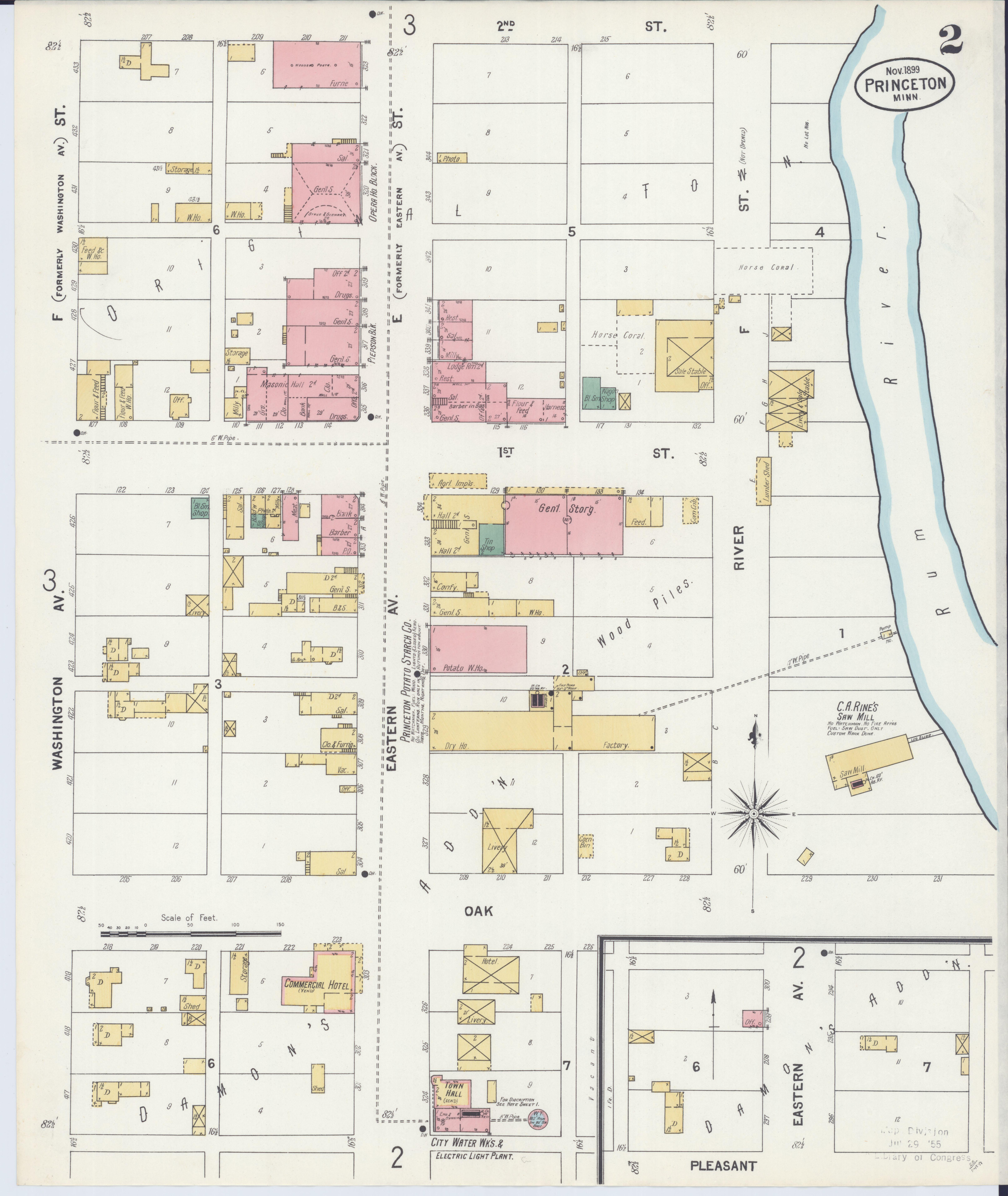 Princeton Minnesota Map.File Sanborn Fire Insurance Map From Princeton Mille Lacs County