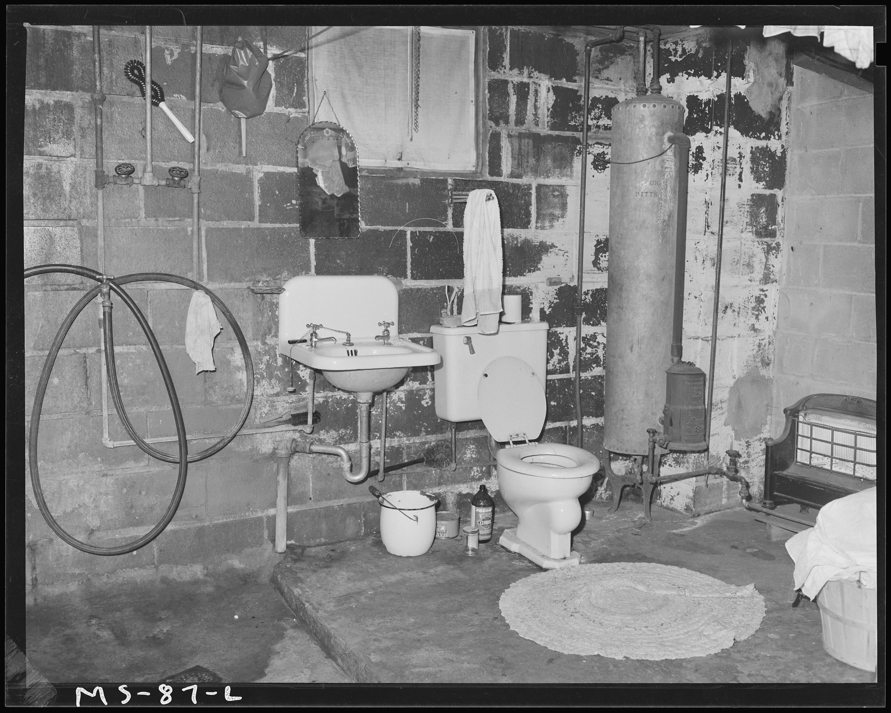 File:Shower, Lavatory And Toilet Installed By J. V. Powell In Basement Of  Company House