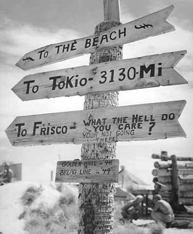 19 - 23 Novembre 1943 : La bataille de Tarawa :  Sign_on_Tarawa