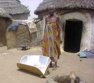 In Ghana, Zouzugu villagers use solar cookers for preparing their meals