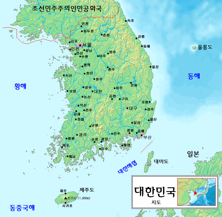 FileSouth Korea Map Kopng Wikimedia Commons - Map of south korea