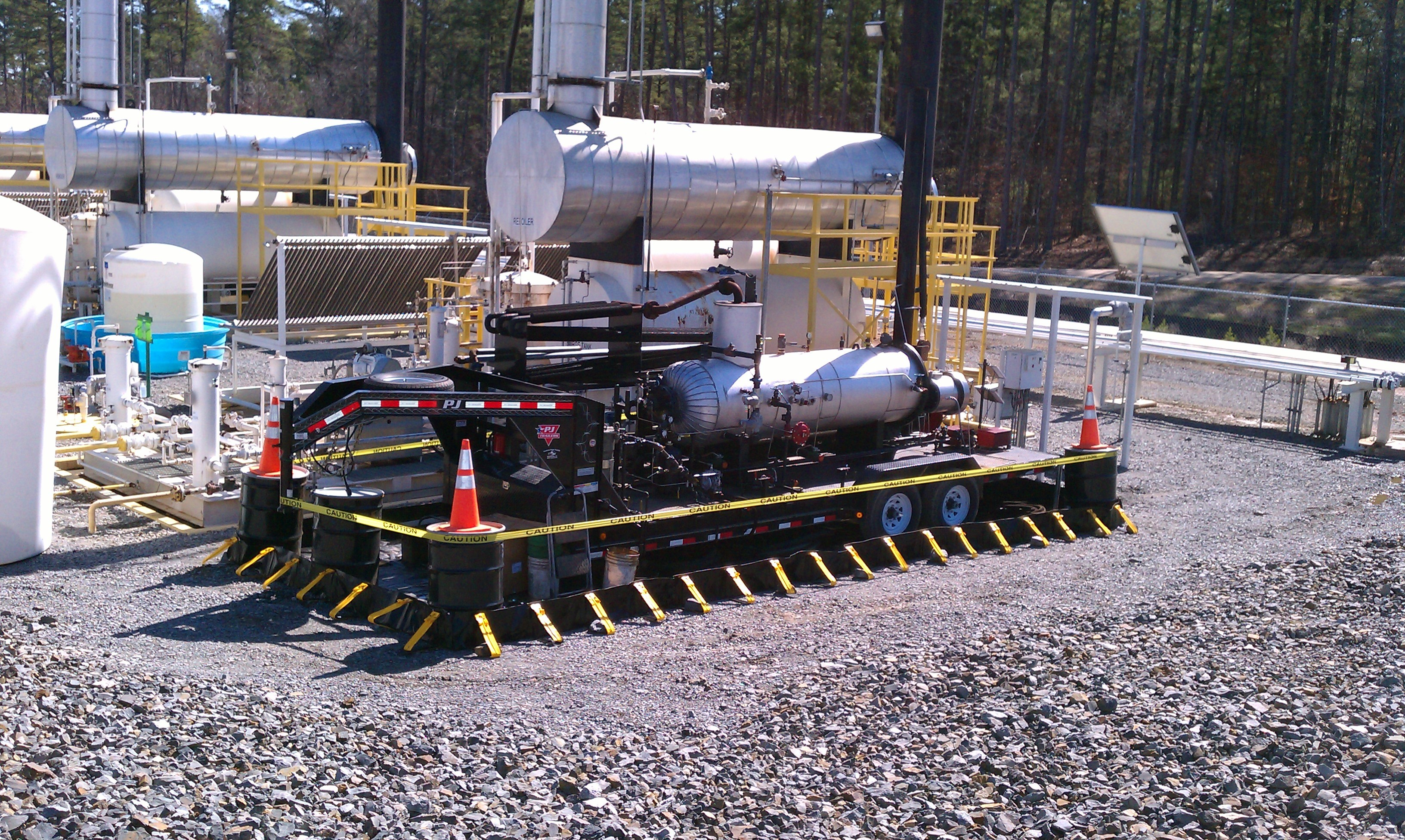 Image result for Portable spill containment around fracking facilities