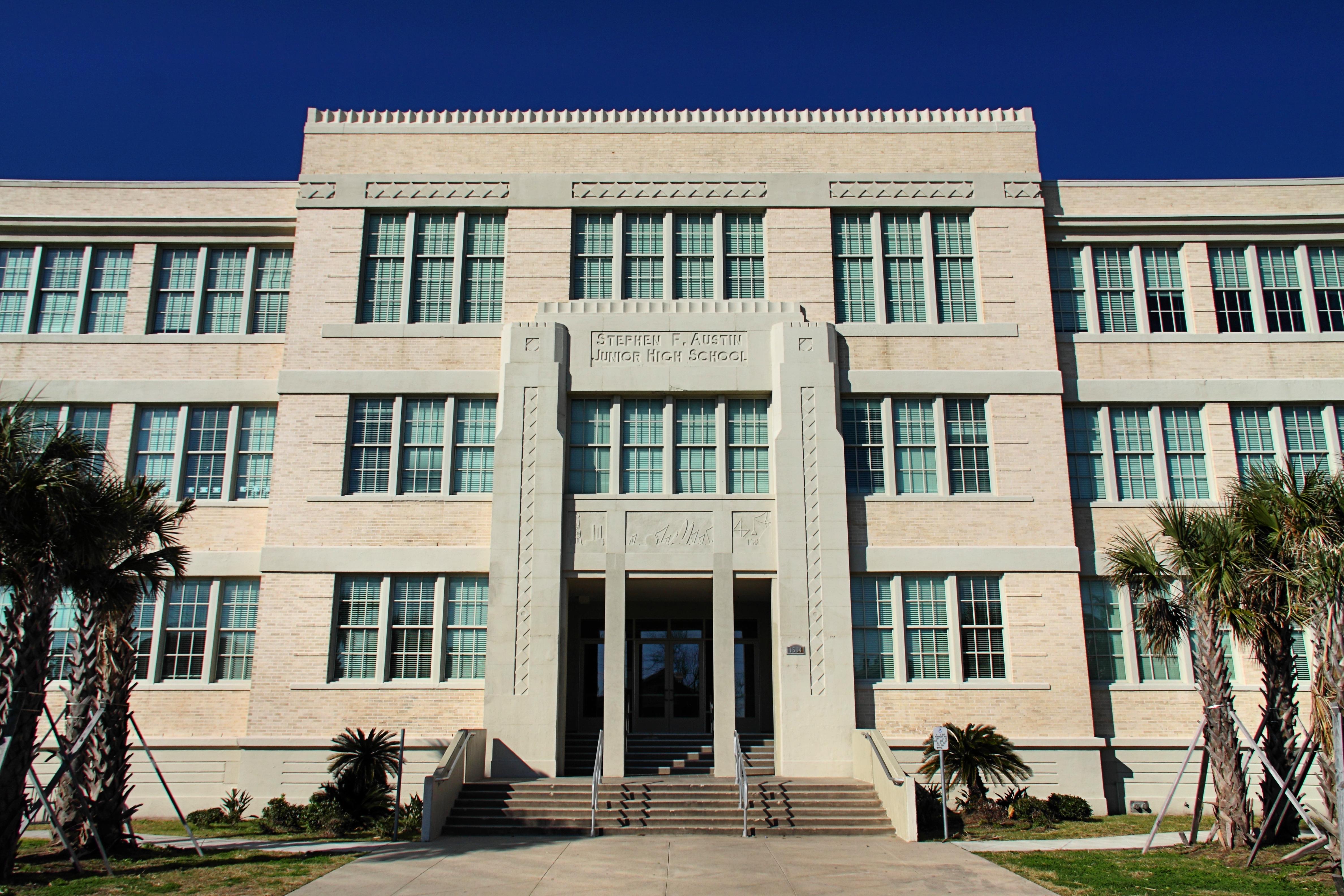 File:Stephen F Austin Junior High Galveston, Texas.JPG