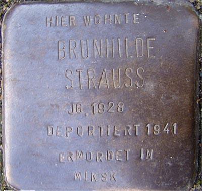 Stolperstein Hebelstrasse 13 Brunhilde Strauss