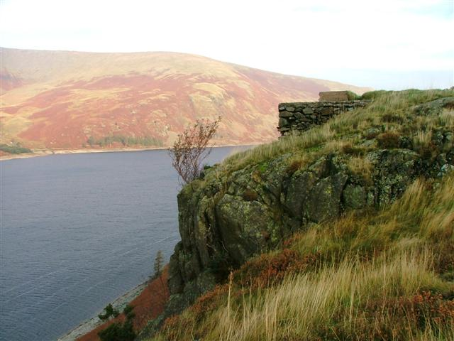 Stone Plinth Overlooking Haweswater - geograph.org.uk - 72675