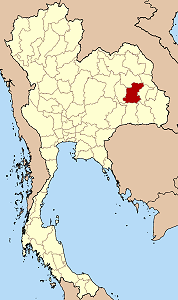 Map of Thailand highlighting Roi Et Province}