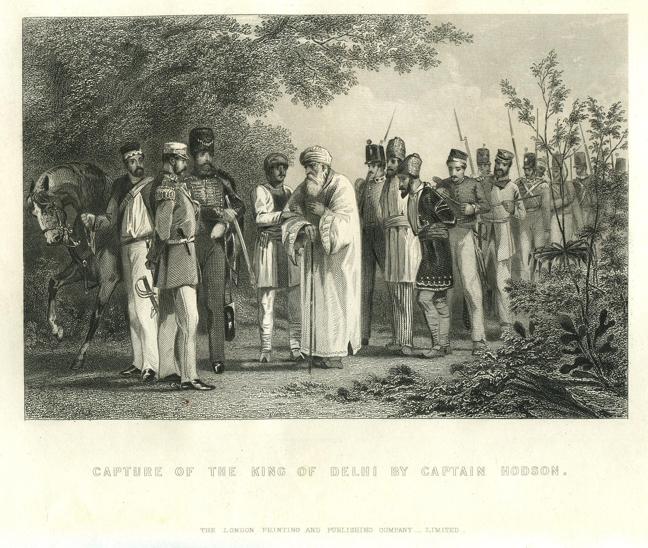 File:The capture of the king of delhi by Captain Hodson.jpg