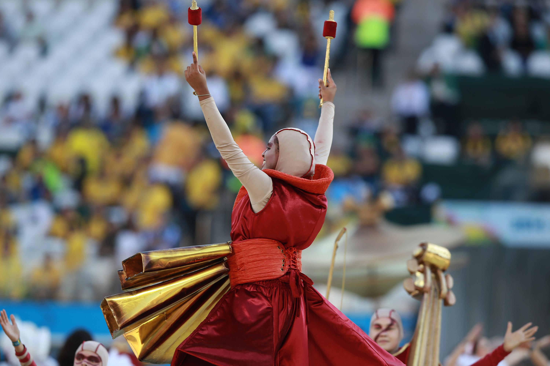The opening ceremony of the FIFA World Cup 2014 20.jpg English: The opening ceremony of the FIFA World Cup 2014 Português: Abertura da Copa