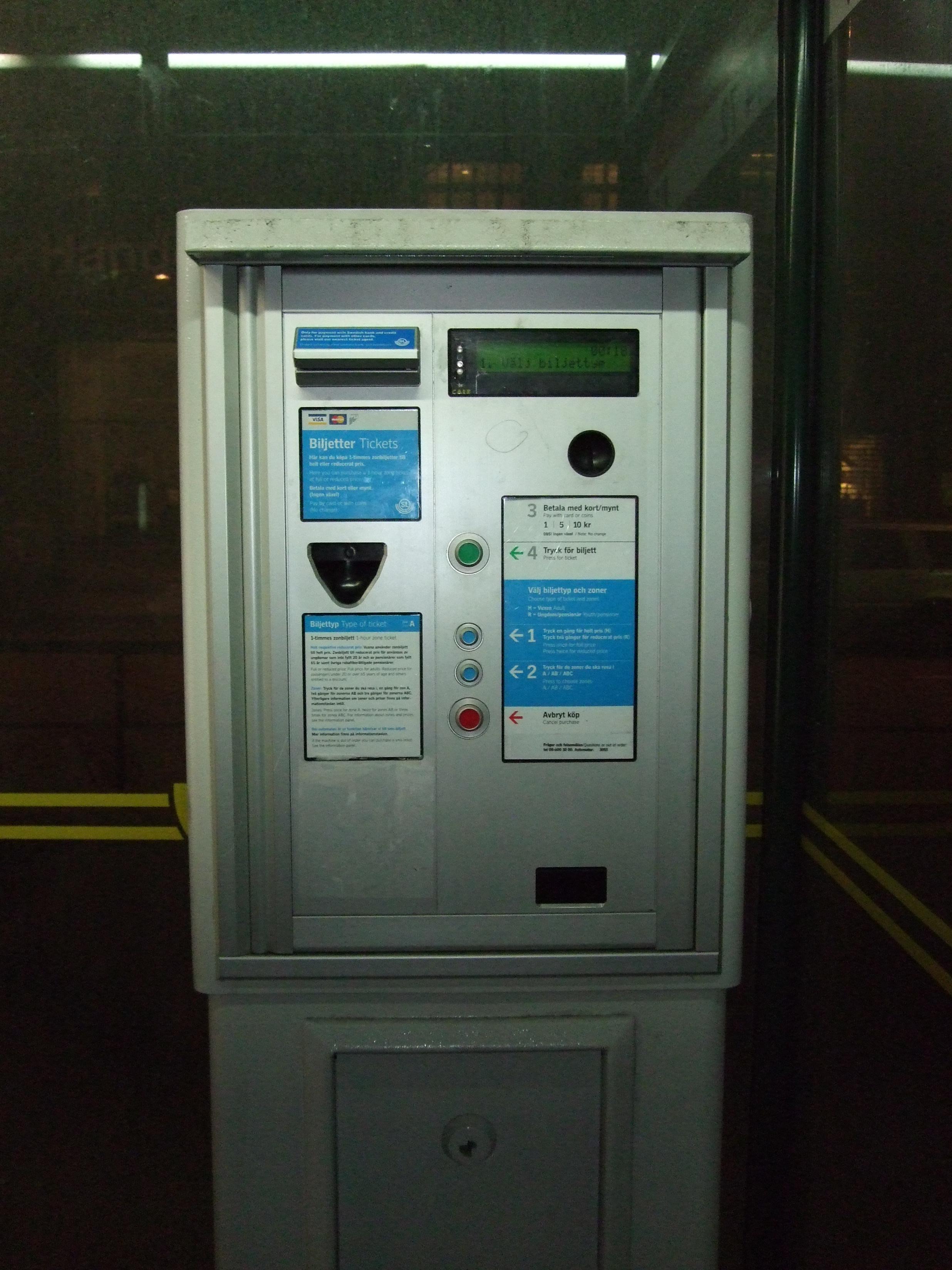 Flygbussarna's ticket desk in Cityterminalen