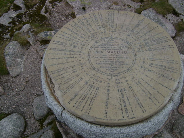Topograph on summit of Ben Macdui - geograph.org.uk - 221325