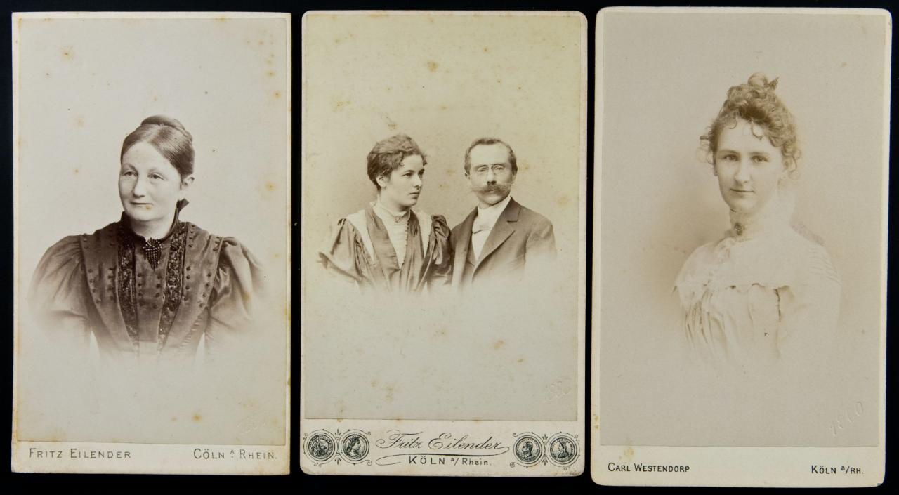 FileTrio Of German Cartes De Visite With Date Blindstamps 1897 1898 1900 13802522443