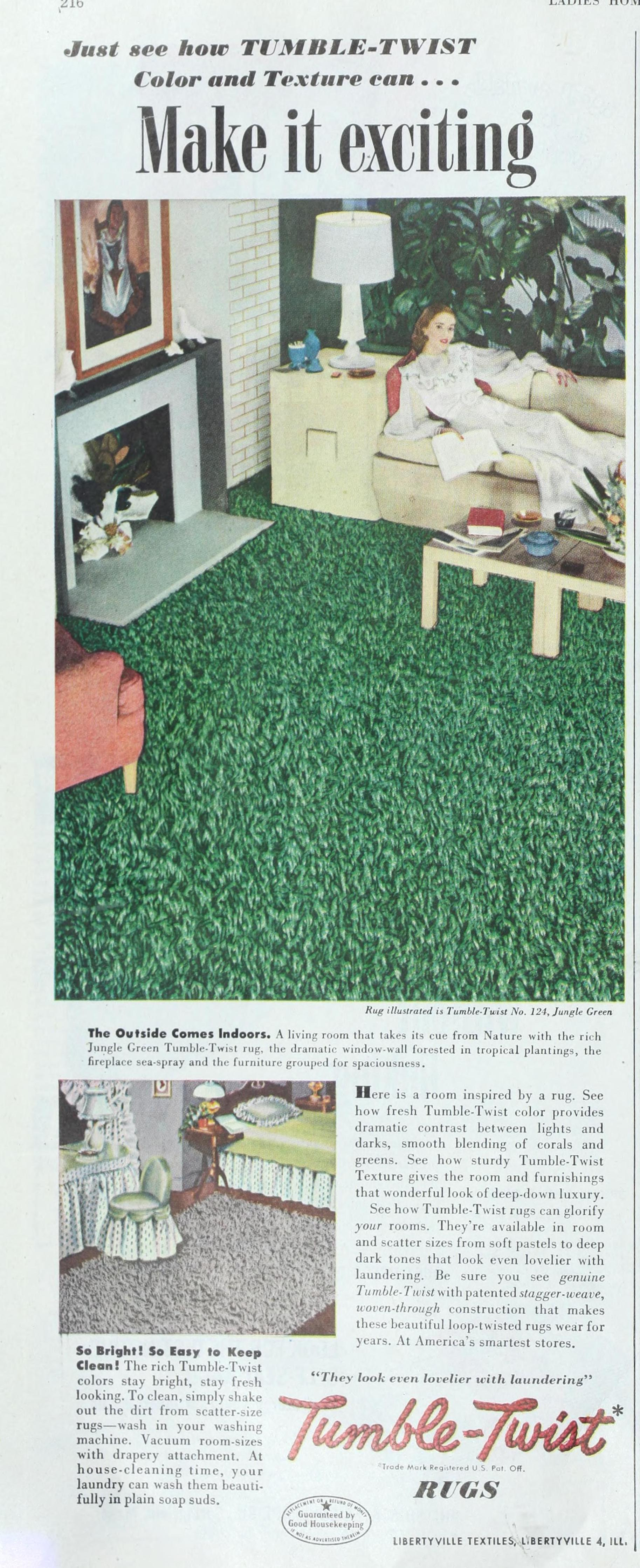 File Tumble Twist Rugs Ad From The Las Home Journal 1948