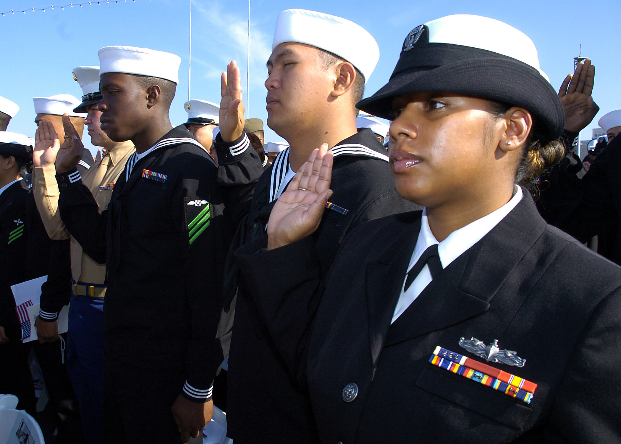 File:US Navy 081111-N-3925A-006 ailors and Marines take the