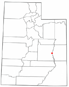 Location of Green River, Utah
