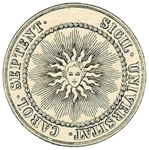 English: original seal of the University of No...