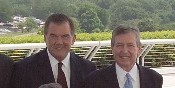 United States Secretary of Homeland Security Tom Ridge and John Ashcroft in 2004 in  Washington, D.C.