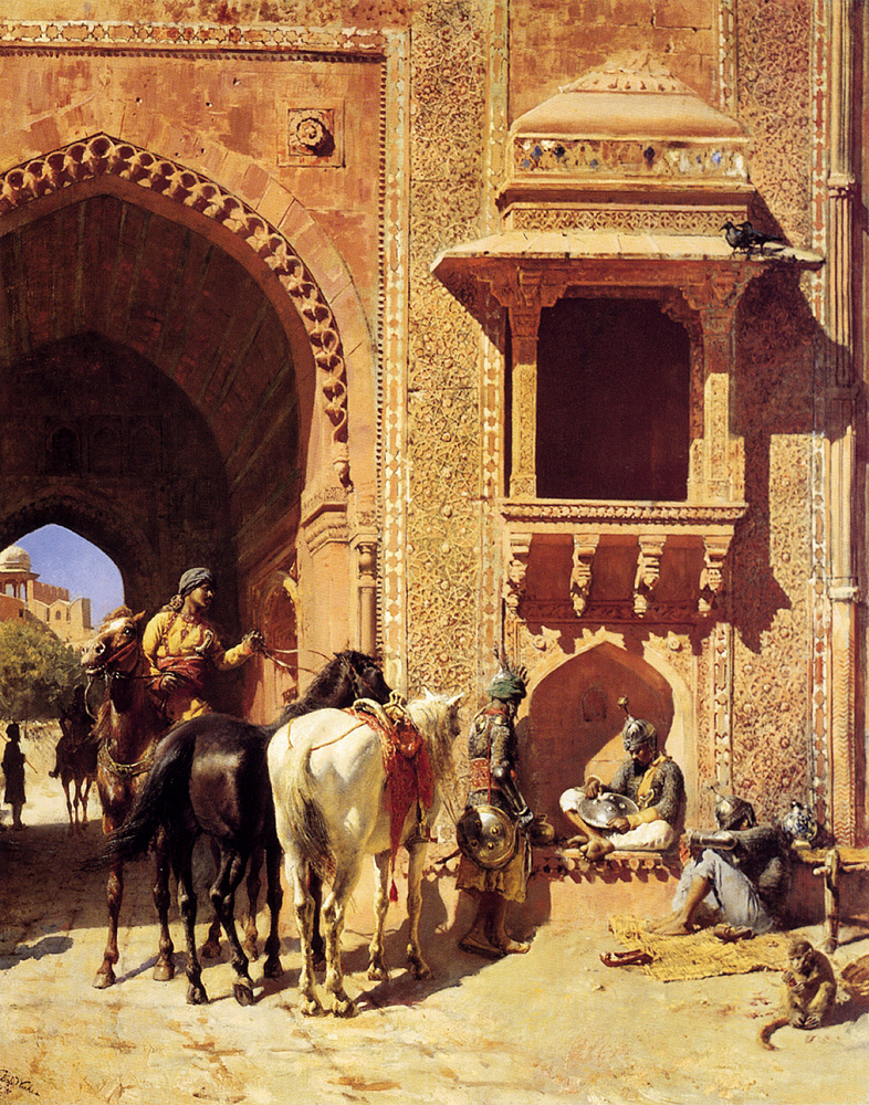 weeks edwin gate of the fortress at agra india.jpg
