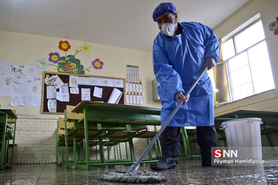 File:Workers disinfect schools against coronavirus in Bojnord 2020-02-26  08.jpg - Wikimedia Commons