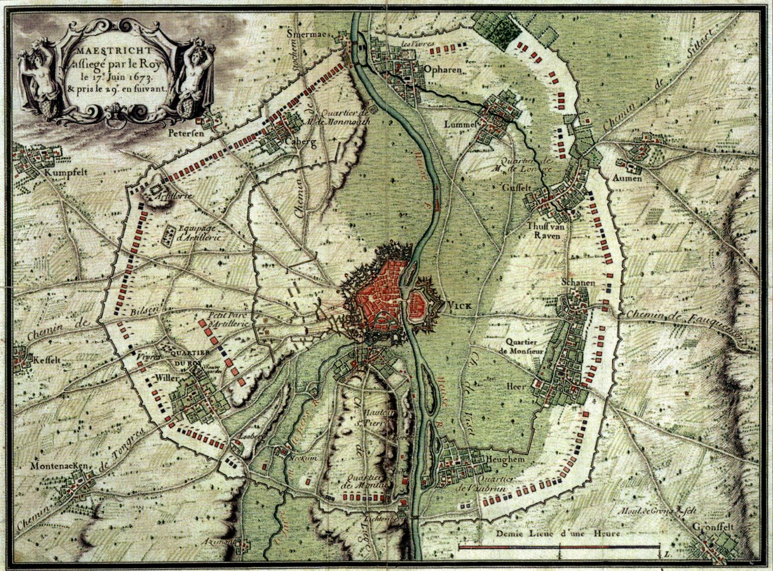 File:1673 Beleg van Maastricht, circumvallatie door Franse troepen.jpg