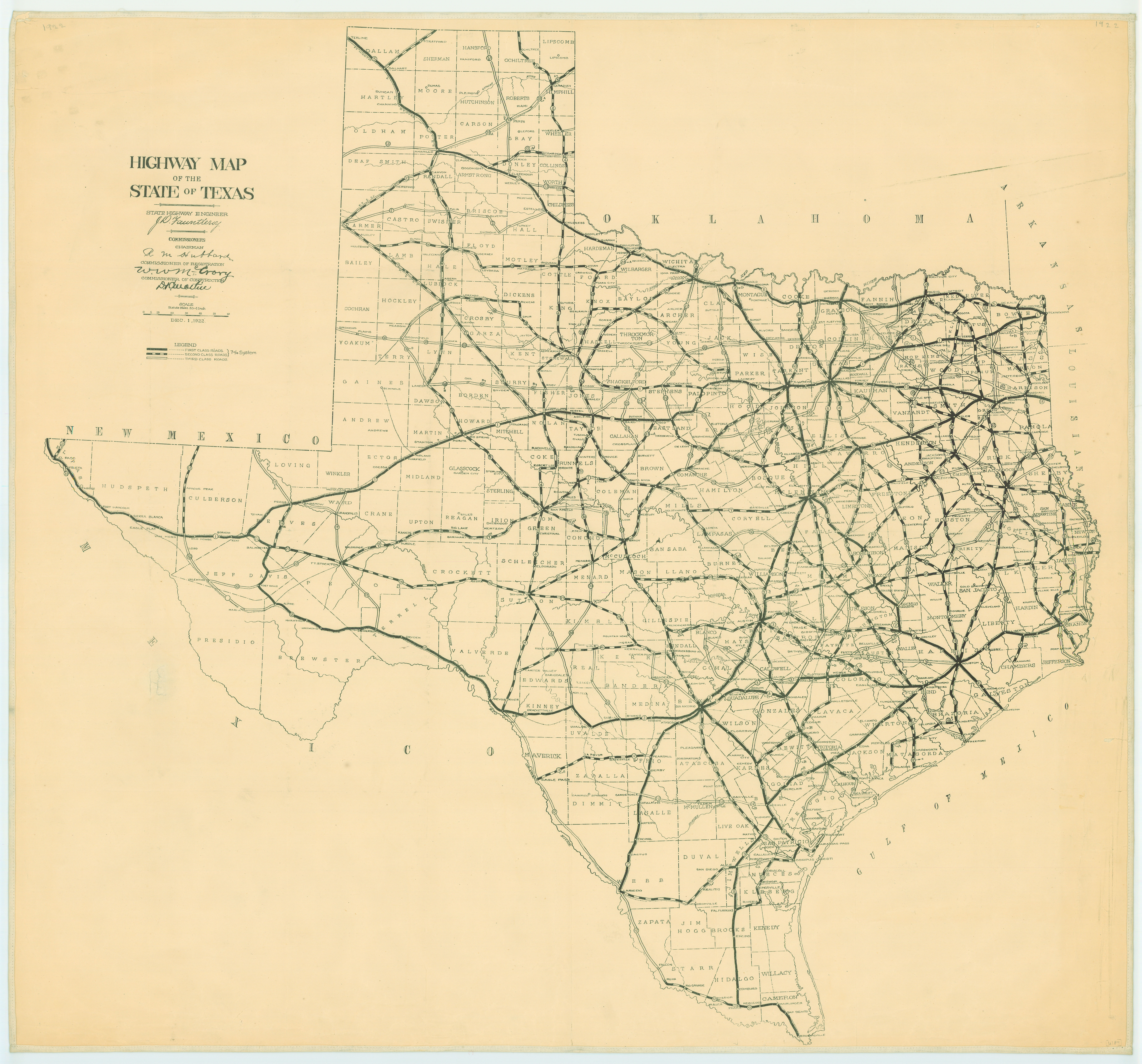 File:1922 Texas state highway map.jpg - Wikimedia Commons
