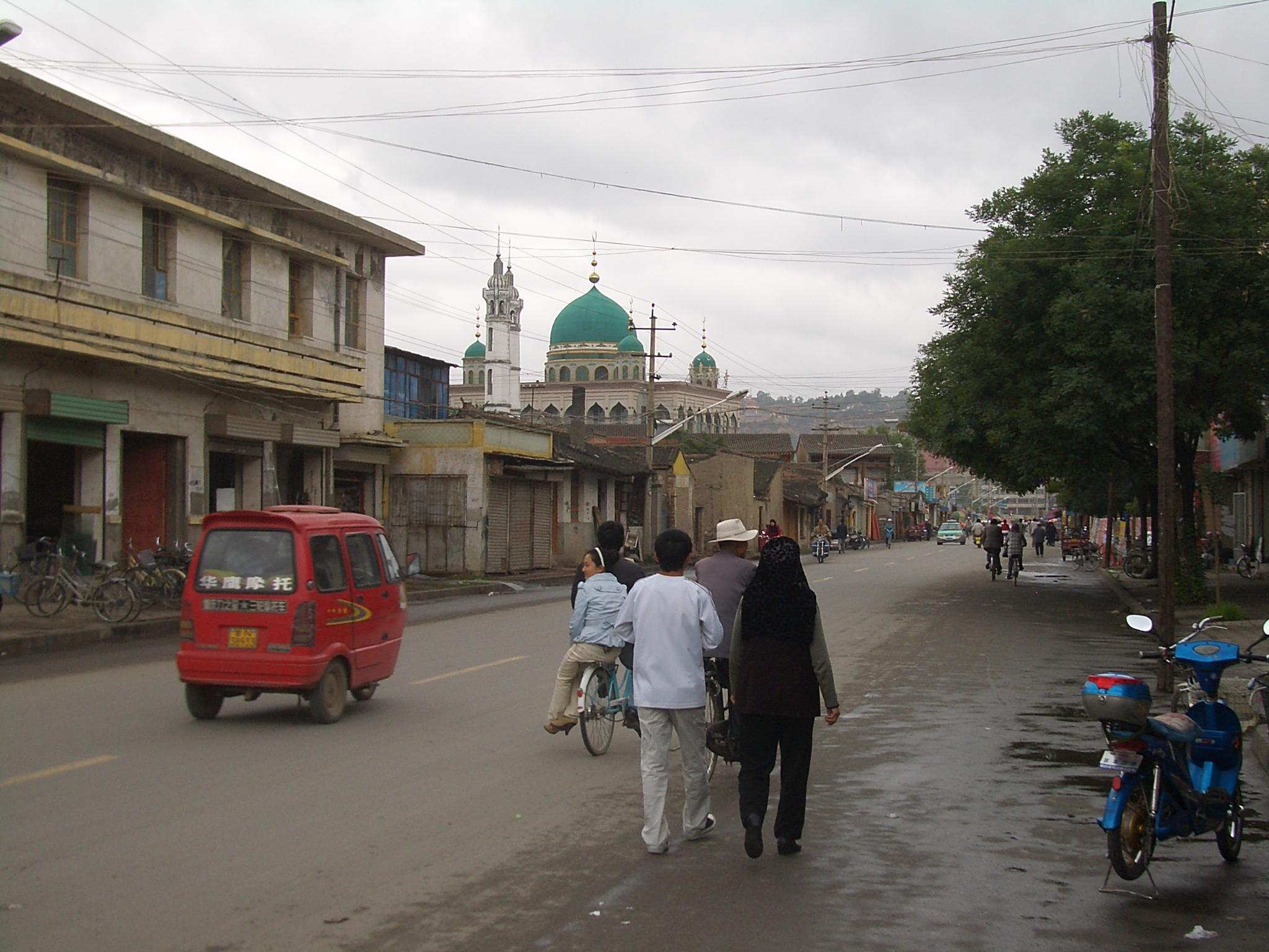 File 5710 Linxia City Xin Xi Lu Laohua And Xinhua Mosques Jpg
