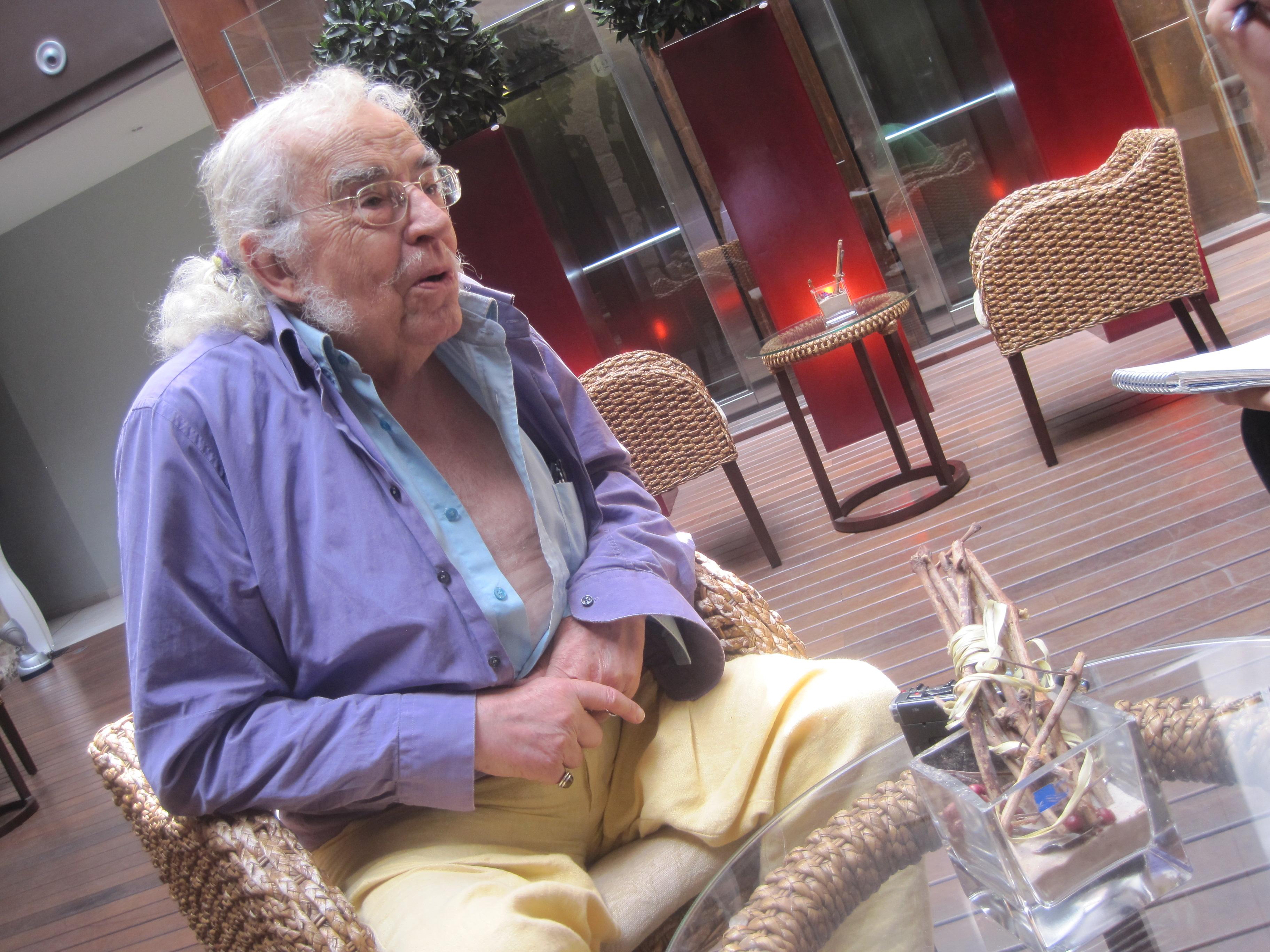 Agustín García Calvo, en los Cursos de Verano de la Universidad de La Rioja.
