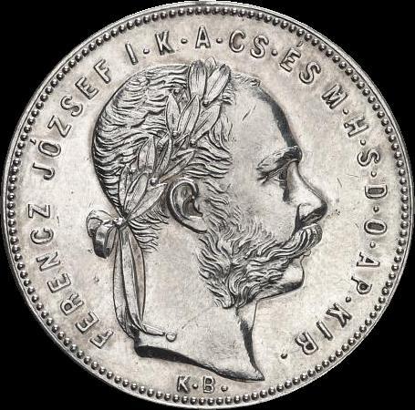 AHG 1 forint 1878 Selmecbanya obverse