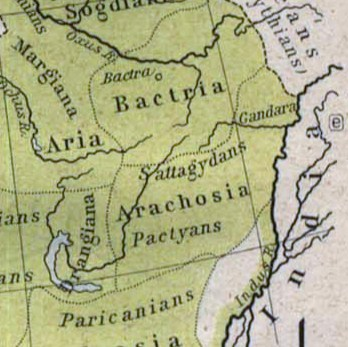 The ancient Arachosia and the Pactyan people during 500 BC.