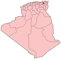Position of Constantine in Algeria.
