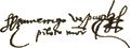 Signature de Amerigo Vespucci