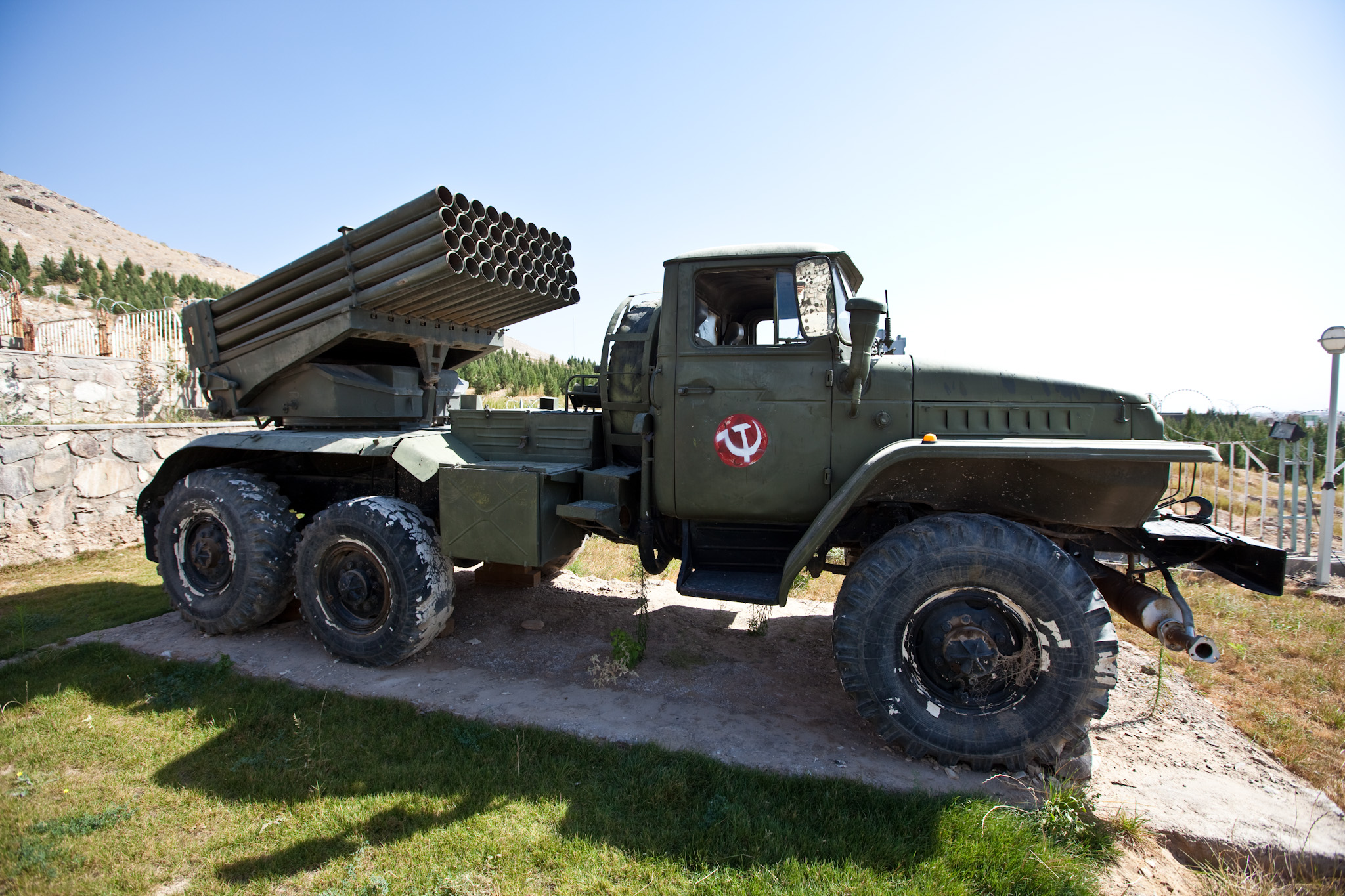 File Bm 21 Grad On Ural 375d Chassis In A Museum In Herat