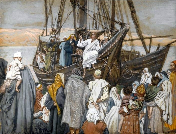 File:Brooklyn Museum - Jesus Preaches in a Ship (Jésus prèche dans une barque) - James Tissot - overall.jpg